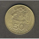Moneda 50 Centesimos Año 1971