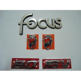 Kit Emblemas Focus + 2.0 + 16v + (2) Brasão Ghia - Mmf