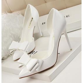 Sapato Importado Feminino Scarpin Com Laço Cód1598