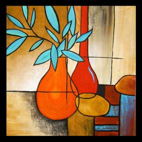 Pintura Decorativa Al Óleo Texturizadas Hermosas 45cm X 45cm
