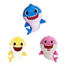 1 Pelúcia, Baby Shark Bebê Tubarão Toca Música + Led