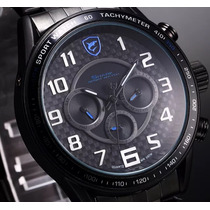 Reloj Shark Sport Acero Inoxidable Black/blue Delux