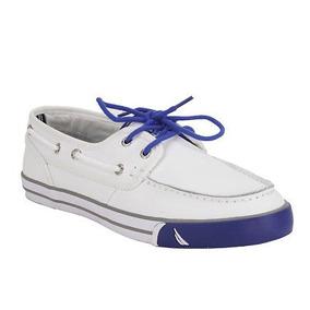 Cuero Bajo Cubierta Zapatos Blanco Nautica Hombre 9