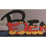 Letras Candy Bar, Mesa Dulce De15cm Decoradas Mickey Mouse