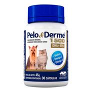 Pelo E Derme 1500 30 Cápsulas Vetnil Vitamina Cães Gatos