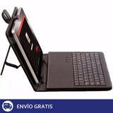 Estuche Tablet Con Teclado 7 Pulgadas Funda Eco Cuero