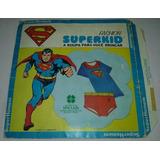 Superman Embalagem Roupa Fashion Superkid Trevus 1979 Batman