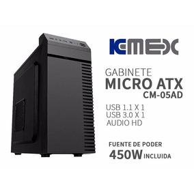 Gabinte Kmex Cm05ad Usb De 3.0 Fuente De Poder De 450w