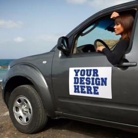 8 Imãs Para Propaganda Em Carros De Passeio E Utilitários