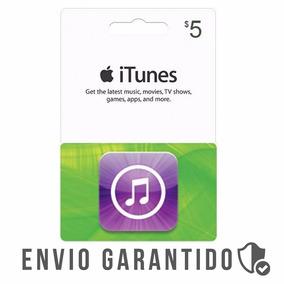 Itunes Gift Card $5 Dólares Usa Envio Imediato
