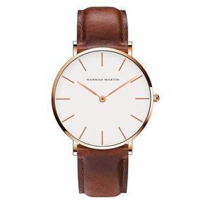Kit 2 Relógios Casual Pulseira De Couro Luxo