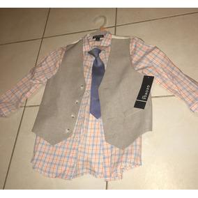 Camisa De Niño Talla 6 Chaleco Y Corbata George Americanos