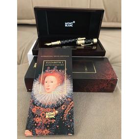 Montblanc Elizabeth I Tinteiro Fountain Pen 4810 Completo