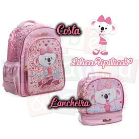Kit Escolar Lilica Ripilica Mochila Costa+lancheira