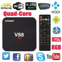 Tv Box Android 5.1 Convierte Tu Tv A Smart Tv V88 4k Rk3229