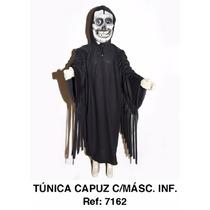 Fantasia Infantil Carnaval Capa + Máscara Pânico Ou Caveira