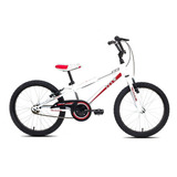 Bicicleta Infantil Tito Volt Aro 20 Branco E Vermelho - Tam: