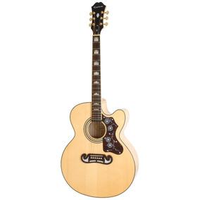 Guitarra Electroacústica Epiphone Ej-200ce Natural