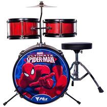 Bateria Phx Marvel Infantil Spider Bims2 Na Cheiro De Musica