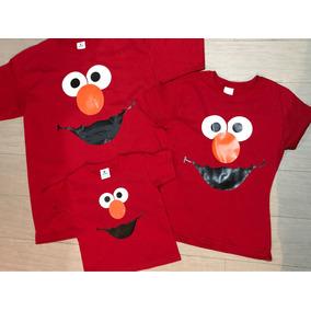 Pkt Elmo 3 Playeras Familia Evento Plaza Sesame Street