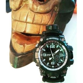 Reloj Casio G-shock Con Pulsera Paracord De Supervivencia