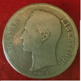 Estados Unidos De Venezuela Fuerte De Plata 1886 Lei 900