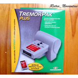 Nintendo 64 Tremor Rumble Pak Pack Plus + Memory Card Nuevo