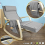 Sobuy Fst18-dg, Confortable Silla De Relax Mecedora, Silla