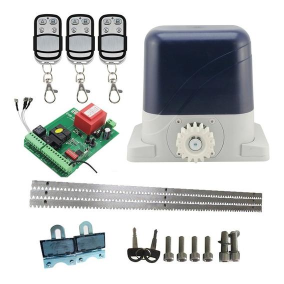 Kit Motor Corredizo 400 Kg 3 Controles Y Cremalleras Acero