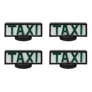 04 Luminosos Para Teto De Taxi Retangular Com Base De Íman