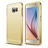 Funda S7 Bumper Espejo Protector Cases Dorado Samsung