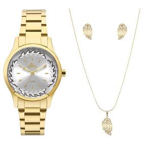 Relogio Feminino Allora Flores - Relógios De Pulso no Mercado Livre ... 360b171837