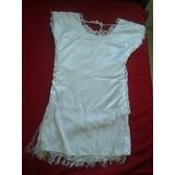 Vestido Renda Com Franjas Branco
