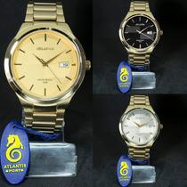 Relógio Esportivo Atlantis Original Homem Moderno Dourado