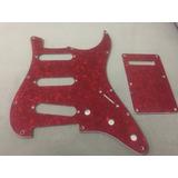 Pickguard Sss Red Pearl Para Fender Statocaster