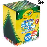 120 Marcadores Lavables Crayola Super Tips Washable Markers