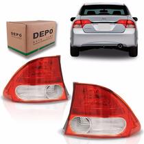 Par Lanterna New Civic Honda 2007 2008 2009 2010 2011 Depo
