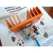 Mini Amplificador Estereo 38+38 Watts C/volumen Y Disipador