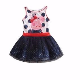 Vestido Peppa Pig Poa Com Tutu