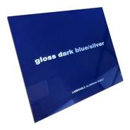 Aluminio Bicapa Laserables 0,45mm X4 Unidades Azul M / Plata