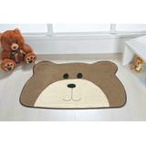 Tapete Infantil Urso Carinho 78cm X 51cm De Pelúcia