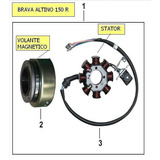 Stator Y Volante Magnetico De Brava Altino 150 R - Original