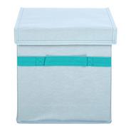 Caixa Organizadora Quadrada Dobrável Com Tampa Miniso Azul