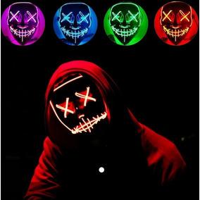 Mascara Led The Purge 5 Colores Disfraz Festival Baterias