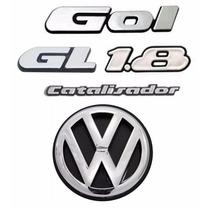 Emblemas Gol Gl 1.8 Catalisador + Vw Mala - Gol Quadrado