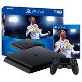 Ps4 Consola Play Station 4 Slim - 1000 Gb - Juego Fifa 18