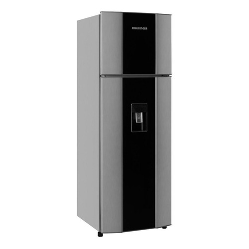 Refrigerador no frost Challenger CR 372 B titanium con freezer 252L 115V