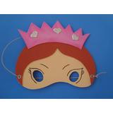 Mascaras De Princesas Goma Eva De Nena