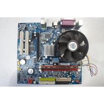 Kit Placa Mãe Gigabyte Ga-vm900m + 1gb De Memoria Ddr2