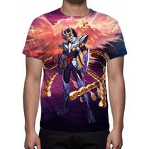Camisa, Camiseta Ikki De Fênix Mod 04 - Estampa Total